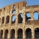 Famous Italian Attraction Colosseum in Rome Ancient Amphitheater Coliseum in Capital of Italy - VideoHive Item for Sale