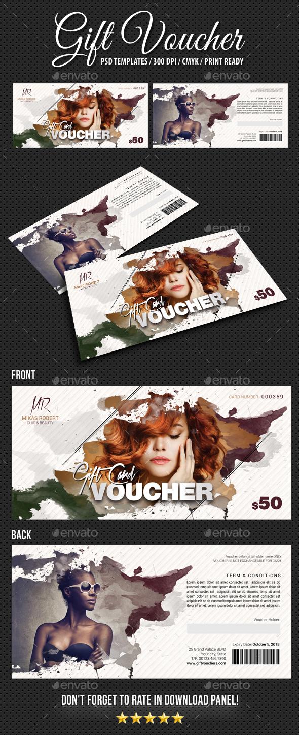 Gift Voucher V14 - Cards & Invites Print Templates