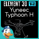 Yuneec Typhoon H for Element 3D - 3DOcean Item for Sale
