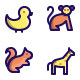 Animal Filled Line Icons