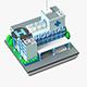 Cartoon Public Buildings Low Poly Set - 3DOcean Item for Sale