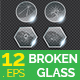 Broken Glass Circle Shape Vector