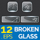 12 Broken Glass in Square Shape Collection