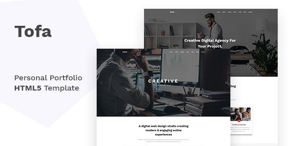 Image of Tofa - Personal Portfolio Template