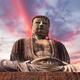 Giant Buddha statue under at sunset - PhotoDune Item for Sale