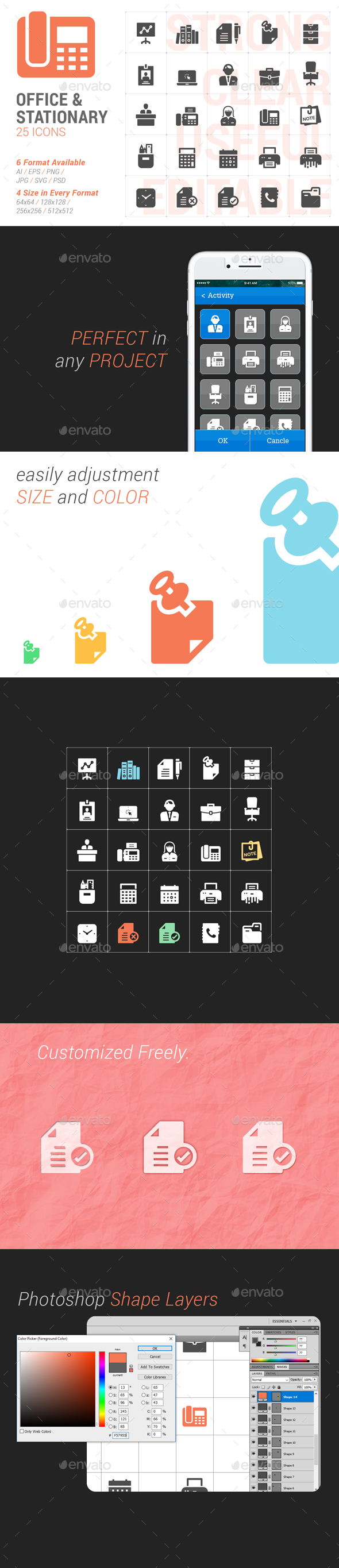 Office & Stationary Filled Icon - Icons