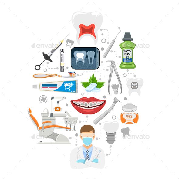 Dental Services Infographics - Health/Medicine Conceptual