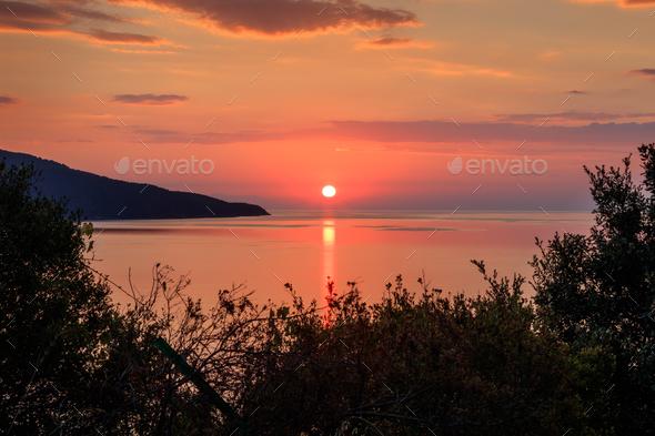 sunrise on the sea - Stock Photo - Images