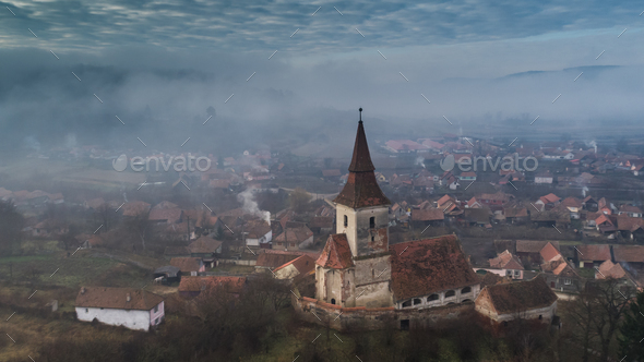 Agarbiciu fortified church - Stock Photo - Images