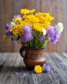 Bouquet of wildflowers (Anthemis tinctoria and Knautia arvensis) - PhotoDune Item for Sale
