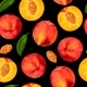 Peach Seamless Pattern - GraphicRiver Item for Sale