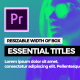 Essential Smooth Titles - VideoHive Item for Sale