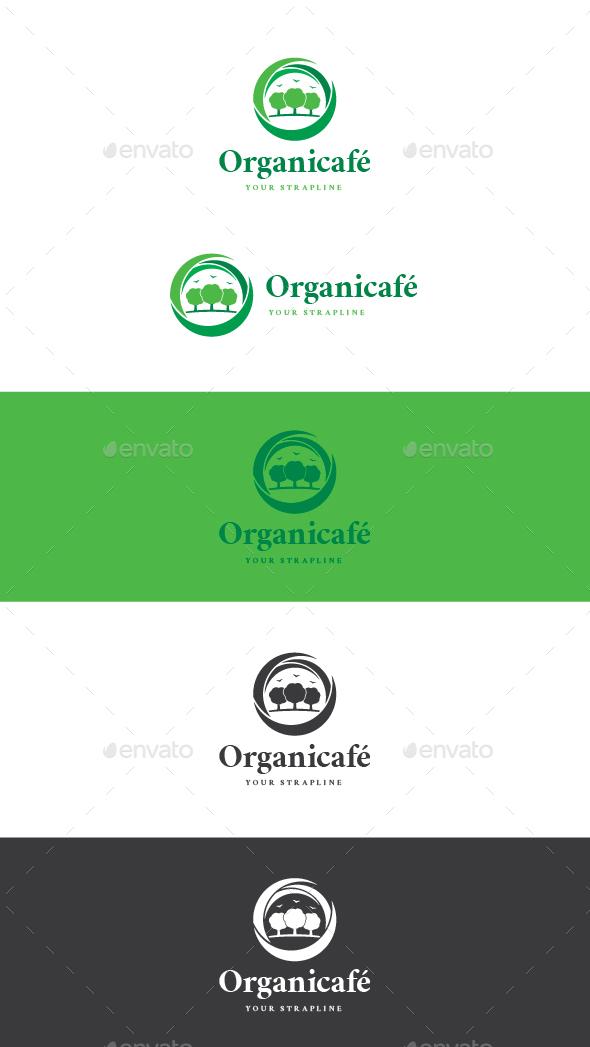 Organicafé Logo - Nature Logo Templates