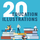 Flat Design Education Illustrations - GraphicRiver Item for Sale
