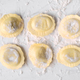uncooked ravioli on marble - PhotoDune Item for Sale
