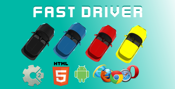 Fast Driver HTML5 Game (CAPX) - CodeCanyon Item for Sale