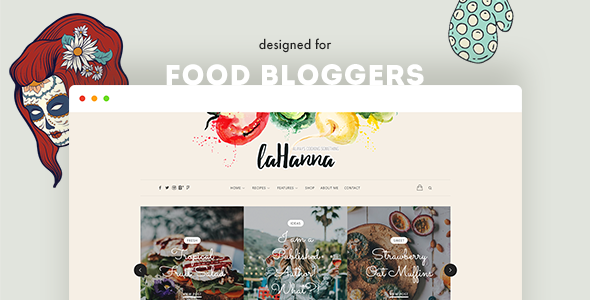Image of Lahanna - WordPress Food Blog Theme for Food Bloggers