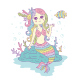 Colorful Mermaid Illustration - GraphicRiver Item for Sale