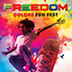 Freedom Colors Fun Fest Photoshop Flyer Template - GraphicRiver Item for Sale