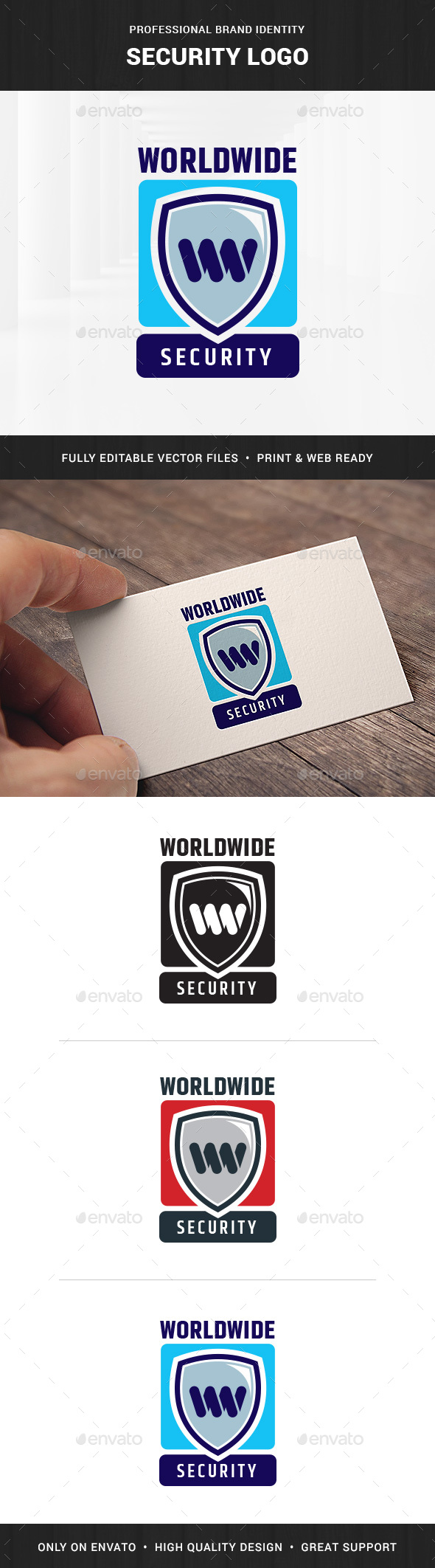 Security Logo Template - Letters Logo Templates