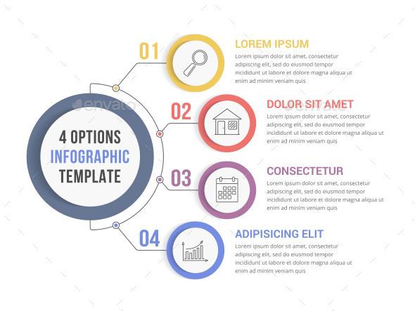 4 Steps Infographics - Infographics