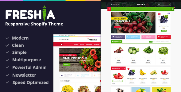 Freshia - Drag & Drop Sectioned Ecommerce Shopify Theme - Shopping Shopify