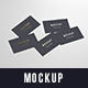 Multiple Business Cards Mockup 90x50