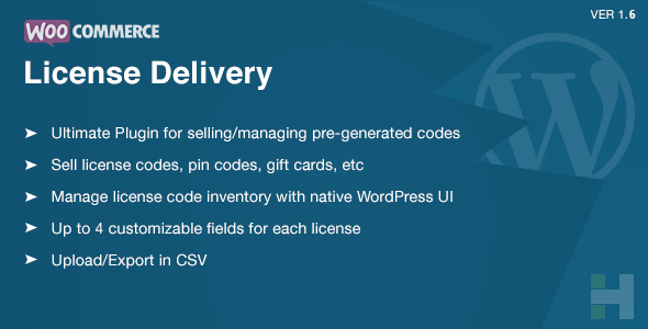 WooCommerce License Delivery & Management - CodeCanyon Item for Sale