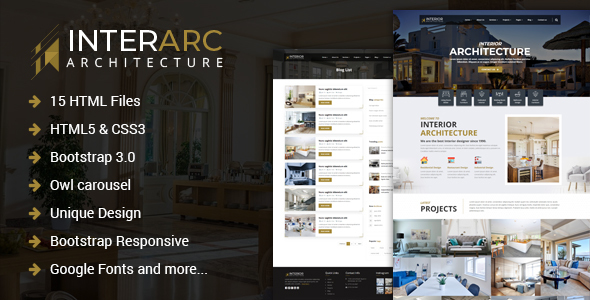 InterArc - Interior Design HTML Template - Business Corporate