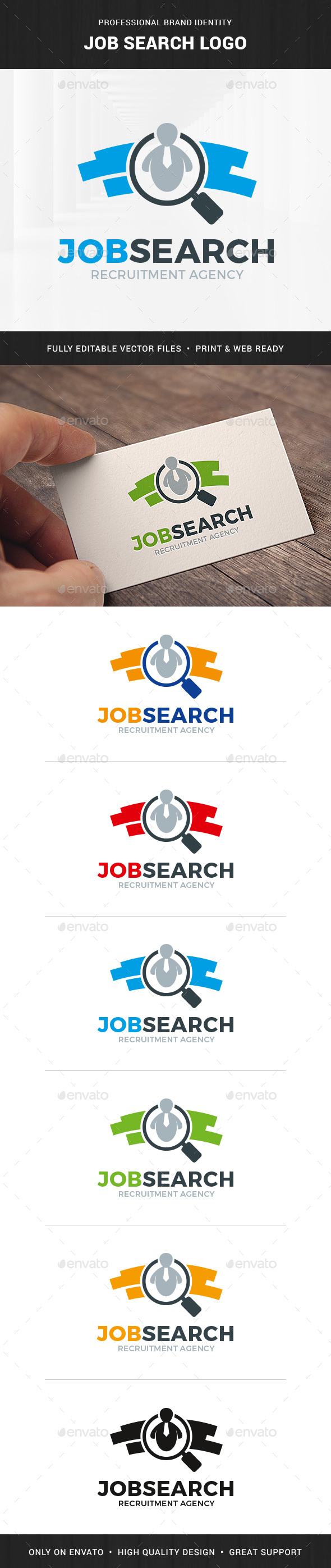 Job Search Logo Template - Humans Logo Templates