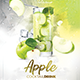 Apple Cocktail Drink Flyer - GraphicRiver Item for Sale