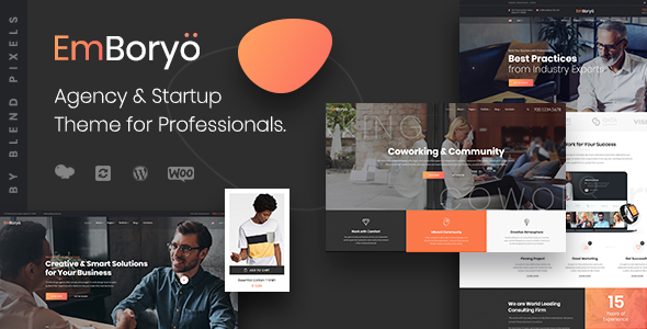 EmBoryo | Agency & Startup WordPress Theme for Professionals