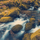Fast flowing stream in ancient forest, toned and colored effect - PhotoDune Item for Sale