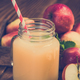 Apple juice in jar, freshly pressed cloudy juice - PhotoDune Item for Sale