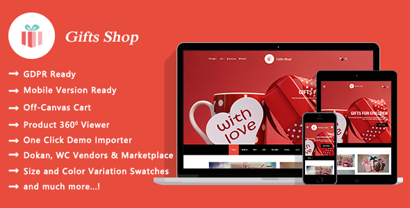 Gifts Shop - Gift and Souvenir Responsive WooCommerce WordPress Theme