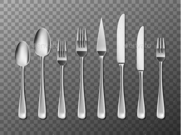 Steel Cutlery - Food Objects