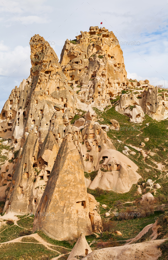 Natural stone fortress in Uchisar - Stock Photo - Images