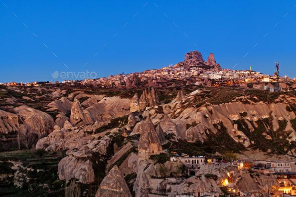 Sunrise in Goreme city, Turkey - Stock Photo - Images