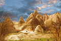 Stone cliffs looks like a Fairy houses in Love valley - PhotoDune Item for Sale