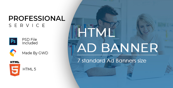 Professional Service Ad Banners - CodeCanyon Item for Sale