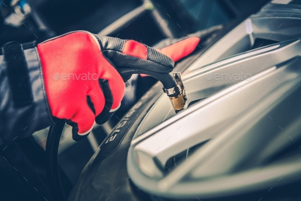 Car Tires Maintenance - Stock Photo - Images