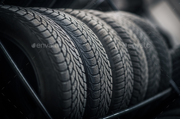 Car Tires Rack - Stock Photo - Images