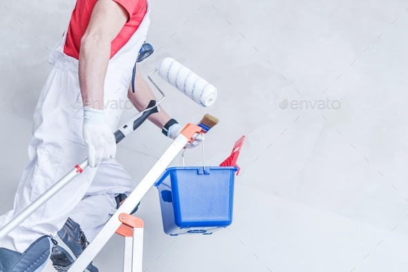 Preparing For Painting Work - Stock Photo - Images