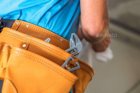 Contractor Tools Belt - Stock Photo - Images