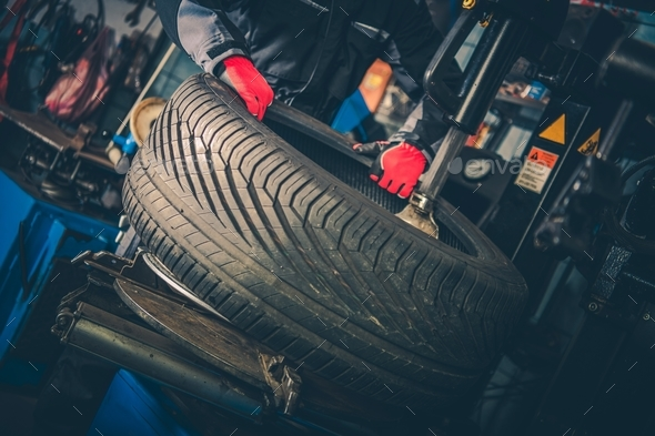 Car Tire Vulcanizing - Stock Photo - Images