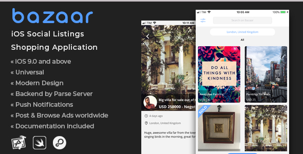 Bazaar | iOS Social Listings Shopping Application            Nulled