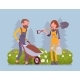 Young Gardeners Working - GraphicRiver Item for Sale