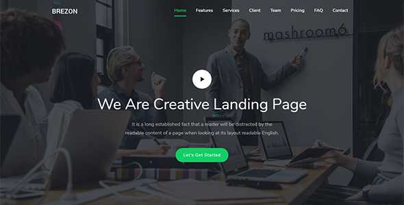 Image of Brezon - Responsive Bootstrap 4 Landing Template