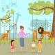 Zoo Animals Vector Flat Style Design Illustration