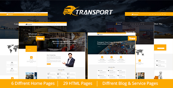 Transport & Logistics HTML Template - Business Corporate